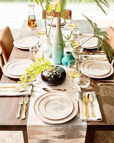 The table is set 🍽 The wine is poured 🍷 It's time to get this dinner party started! 💃🏻 Shop this tabletop with the link in profile! #mywestelm