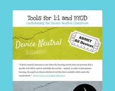 Tools for 1:1 and BYOD