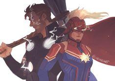 Marvel Dc, Marvel Fan Art, Marvel Comics, Marvel Cartoons, Thor, Loki, Realistic Cartoons, Captain Marvel Carol Danvers, Avengers Memes
