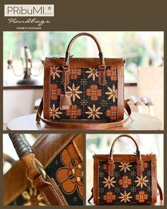 SALIRA Bowling Bag / Style Series / Small Size / Serial # 1541692M / Vintage Batik Sogan Classic / Antique Italian Premium Genuine Cow Leather / 7 November 2012 / buat bu Ida