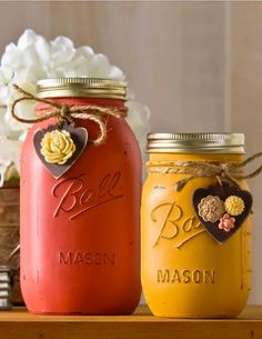 Vintage mason jars are a great way to add a rustic feel to your home decor. See how to make these right here!
