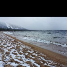 Ooh, I like the way the patterns of snow in the sand mirror the waves - must write this!  The Shamanic Detective.