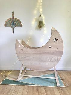 Berceau Lune à Bascule Egg Chair, Decoration, Hanging Chair, Lounge, Wood, Handmade, Furniture, Home Decor, Baby Moon