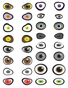 Scary Eyeballs Printables
