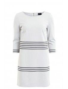 VITINNY 3/4 PORT STRIPE DRESS