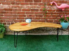 Mid Century Modern Kidney Bean Coffee Table