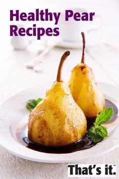 Mmmm....pears. A few recipe ideas for this fab fruit.
