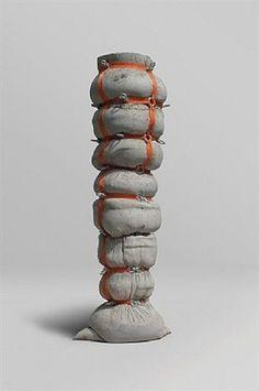 Jeff Muhs - Trunk of Dagon, Concrete, nylon, metal - x x cm. Concrete Sculpture, Concrete Art, Concrete Design, Soft Sculpture, Abstract Sculpture, Contemporary Sculpture, Contemporary Art, Art Totem, Beton Design