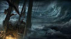 art-max-qin-sea-ship-boat-storm-waves-wr
