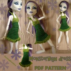 'Crocheting : Monster High clothes: cute dress