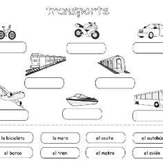 Transportation - Spanish Printouts for Kids