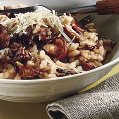 Wild Mushroom Risotto. Go to recipe, with a few mods.