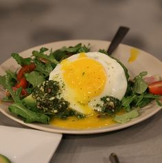 Spicy Spring Arugula Salad-the ingredients are crazy yummy!  Its full of flavors!  Eat for any meal.