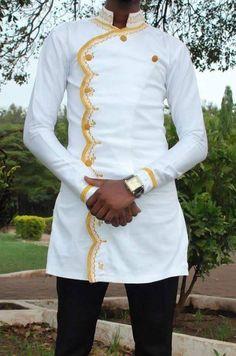 African men's clothing / African fashion/ wedding suit/dashiki / African men's shirt/ vêtement africain/ chemise et pantalon/ Ankara styles. African Dresses Men, African Clothing For Men, African Attire, African Wear, Men African Shirts, Nigerian Men Fashion, African Print Fashion, Africa Fashion, Wedding Suit Styles