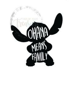 Excited to share this item from my shop: Ohana Means Family Stitch SVG PNG JPG Dxf Files Disney Decals, Car Decals, Vinyl Decals, Tumbler Stickers, Yeti Stickers, Wine Glass Decals, Ohana Means Family, Custom Decals, Lilo And Stitch