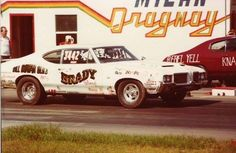 Vintage '72 Olds 442 Drag car