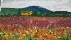 Impressionist landscape from Will Kemp art school tutorial.