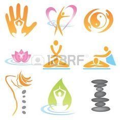 Set of massage , wellnes and spa icons. Vector illustration. Stock Photo - 10828167