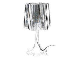 Lampada da tavolo in acrilico onda trasparente - 24x43 cm