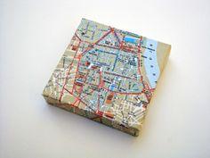 Met deze landkaart/plattegrond kun je in één oogopslag zien waar je allemaal bent geweest. Bordeaux Map on Canvas