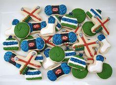 Mini Knitting Cookies in a Jar