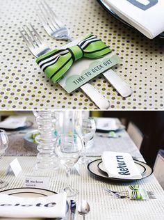 Cubiertos con pajarita / Cutlery with bow tie