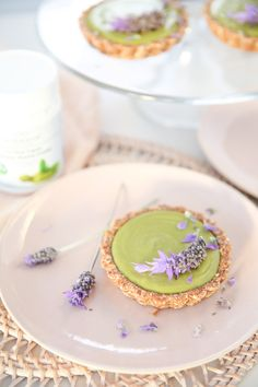 These gorgeously fragrant tarts combine the antioxidant goodness of matcha, with gloriously floral lavender. Don't knock it til you try it, this is a partnership made in taste bud HEAVEN! Vegan, gluten + dairy free.