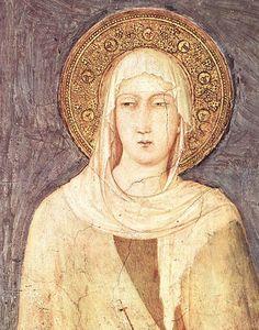 Simone Martini ~ St. Margaret (detail), 1318 (fresco)