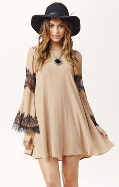 Festival mini dress - Cute match with the hat