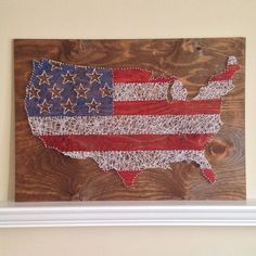 American Flag String Art