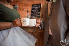 Wedding cheers complete with an espresso bar by Event Espresso Catering!