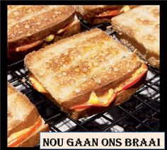 The braaibroodjie (braaied toasted sandwich) is arguably the highlight of any braaing experience. Here's how to make the best ones. Braai Recipes, Cooking Recipes, Barbeque Side Dishes, South African Recipes, Tasty, Yummy Food, Easy Dinner Recipes, Lunch Recipes, Appetizer Recipes