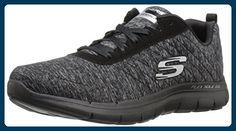 Skechers Damen Flex Appeal 2.0 Sneakers, Schwarz (Bkcc), 36 EU - Sneakers für frauen (*Partner-Link)