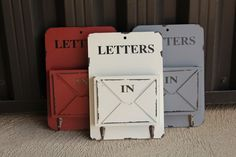VINTAGE DECORATIVE INBOX AND KEY HOLDER - ASSORTED COLORS  Keep Away The Clutter With These Gorgeous Organizers!  STARTING AT    56% OFF