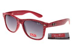 Wholesale-Ran-Ban-Rare-Print-81040-Deep-Red-Pattern-Frame-Gray-Lens-RB1294-2358