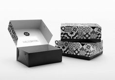 Kanella designed a strong and elegant identity and packaging for Meliartos, a contemporary Athenian bakery. Innovative Packaging, Cool Packaging, Brand Packaging, Packaging Ideas, Bakery Branding, Branding Design, Visual Merchandising, Design Awards, Design Trends