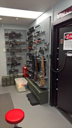 Pitter Patter Let's Get At'er Hidden Gun Storage, Ammo Storage, Weapon Storage, Hidden Gun Rooms, Casa Bunker, Gun Safe Room, Gun Closet, Tactical Wall, Tactical Gear