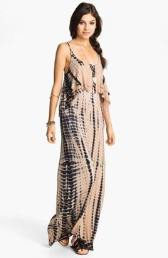 Tie dye for: Mimi Chica Tie Dye Cutout Back Tiered Maxi Dress