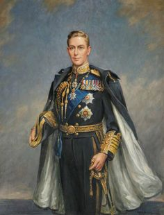 King George VI (1895–1952). A somewhat implausible image of the shy, stammering king.