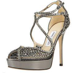 Jimmy Choo Fairview Crystal-Mesh Platform Sandal