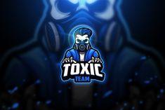 Toxic skull 2 - Mascot & Esport Logo by aqrstudio on Envato Elements Logo Desing, Game Logo Design, Coreldraw, Envato Elements, Mobile Logo, Esports Logo, E Sport, 2 Logo, Skull Logo