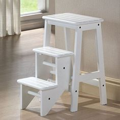 """AmazonSmile: Folding Step Stool - Cappuccino(24"""") Amazon has the best price"""