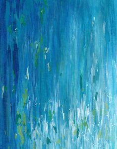 Shimmering Water I, abstract water print, turquoise ocean art, master bedroom art, living room art, blue wall decor on Etsy, $25.00