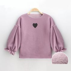 Floral Puff Sleeve Design Baby Girls Sweatshirt Winter Inner Velvet Girls T shirts Hoodies Girls Warm Clothes Children Clothing - Baby Products Warm Outfits, Kids Outfits, Baby Dress Patterns, Winter Shirts, Shirts For Girls, Girls Hoodies, Little Girl Dresses, Kids Fashion, Fashion Outfits