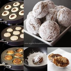 Nutella-filled Ebelskiver Doughnuts... LOVE my Ebelskiver Pan! (and usually fill anything I make in it with nutella...)