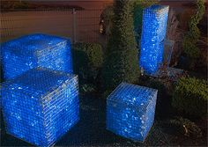 LED filled gabions