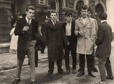 Photographer unknown, 1950s  the one on the left hello  so hot im actually crying  Oh god, feeling weezy  why dont boys look like this anymore wtf  yes omg ^  why did we go from this to baggy pants and snap backs?