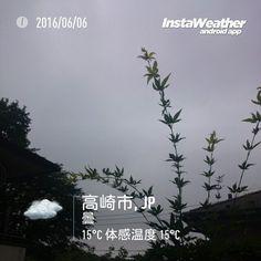 おはよーございます昨日はイイ天気だったのに梅雨入りが発表されましたね  #gunma #takasaki #群馬県 #高崎市 #みんなのIT #なみぶたどっとねっと #namibuta