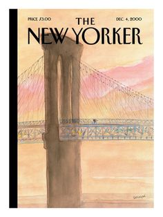 The New Yorker Cover - December 4, 2000 reproduction procédé giclée