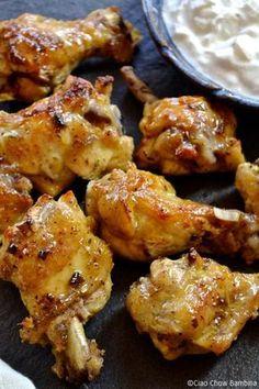 Crispy Baked Greek Chicken Wings